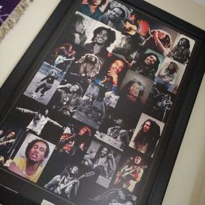 Bob Marley Famous Collage Framed Picture